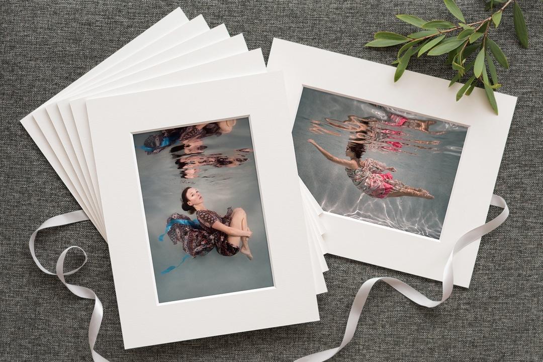 fine art matted prints of underwater photos